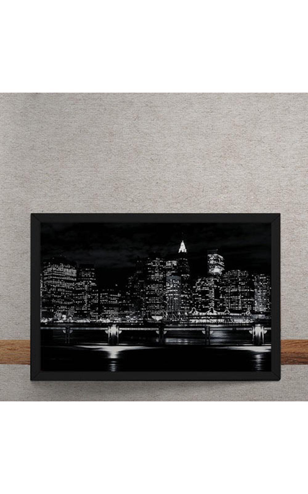 Foto 3 - Quadro Decorativo Luzes Noturna da Cidade
