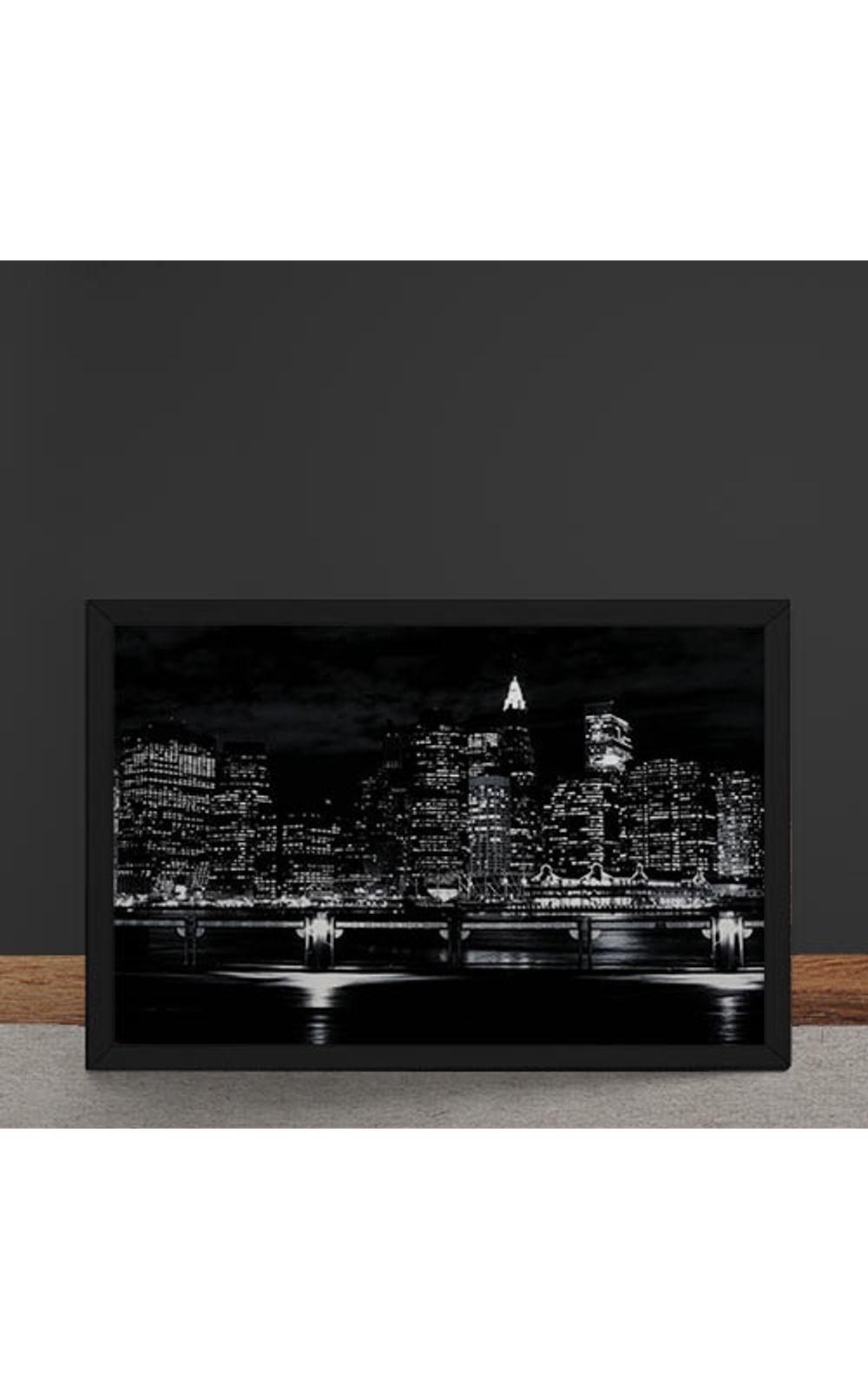 Foto 4 - Quadro Decorativo Luzes Noturna da Cidade