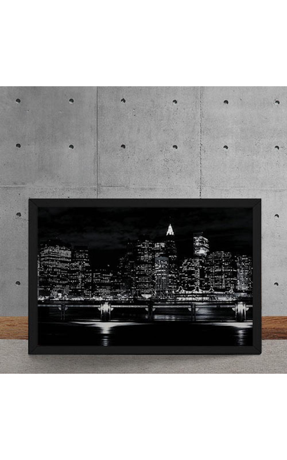 Foto 5 - Quadro Decorativo Luzes Noturna da Cidade