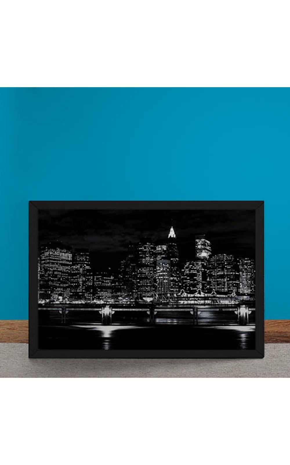 Foto 6 - Quadro Decorativo Luzes Noturna da Cidade