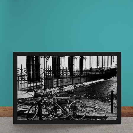 Quadro Decorativo Bicicletas na Rua
