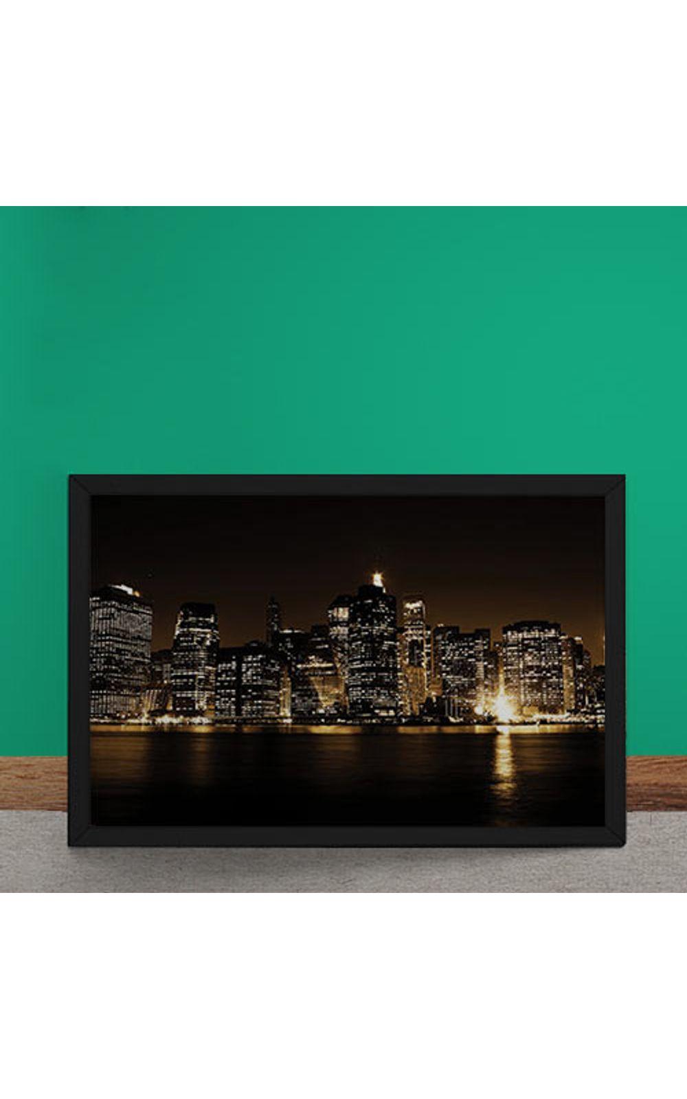Foto 2 - Quadro Decorativo Luzes De Manhatan
