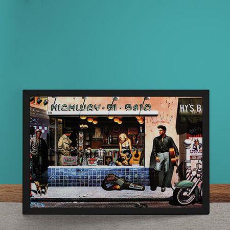 Quadro Decorativo Ilustracao Elvis na Rua