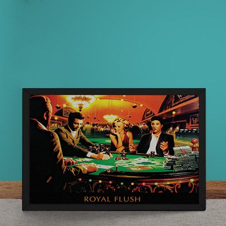 Quadro Decorativo Poker Royal Flush Marylin Monroe Elvis Presley James Dean...