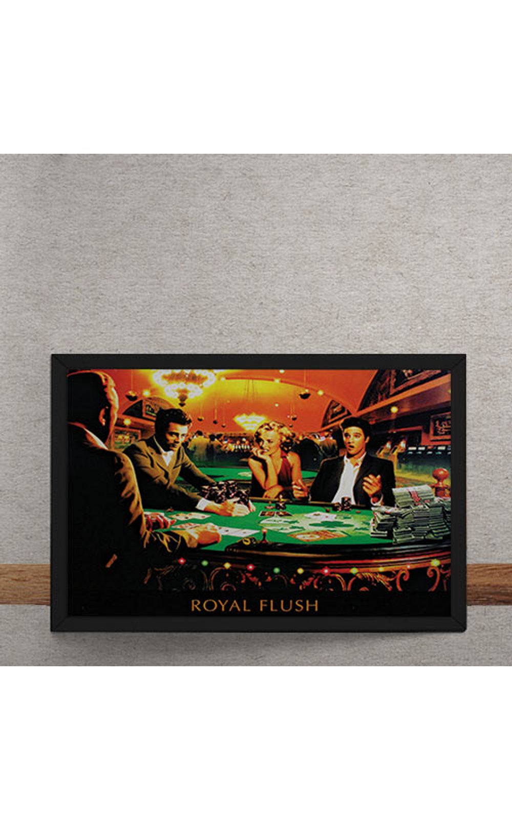 Foto 3 - Quadro Decorativo Poker Royal Flush Marylin Monroe Elvis Presley James Dean Humphrey Bogart