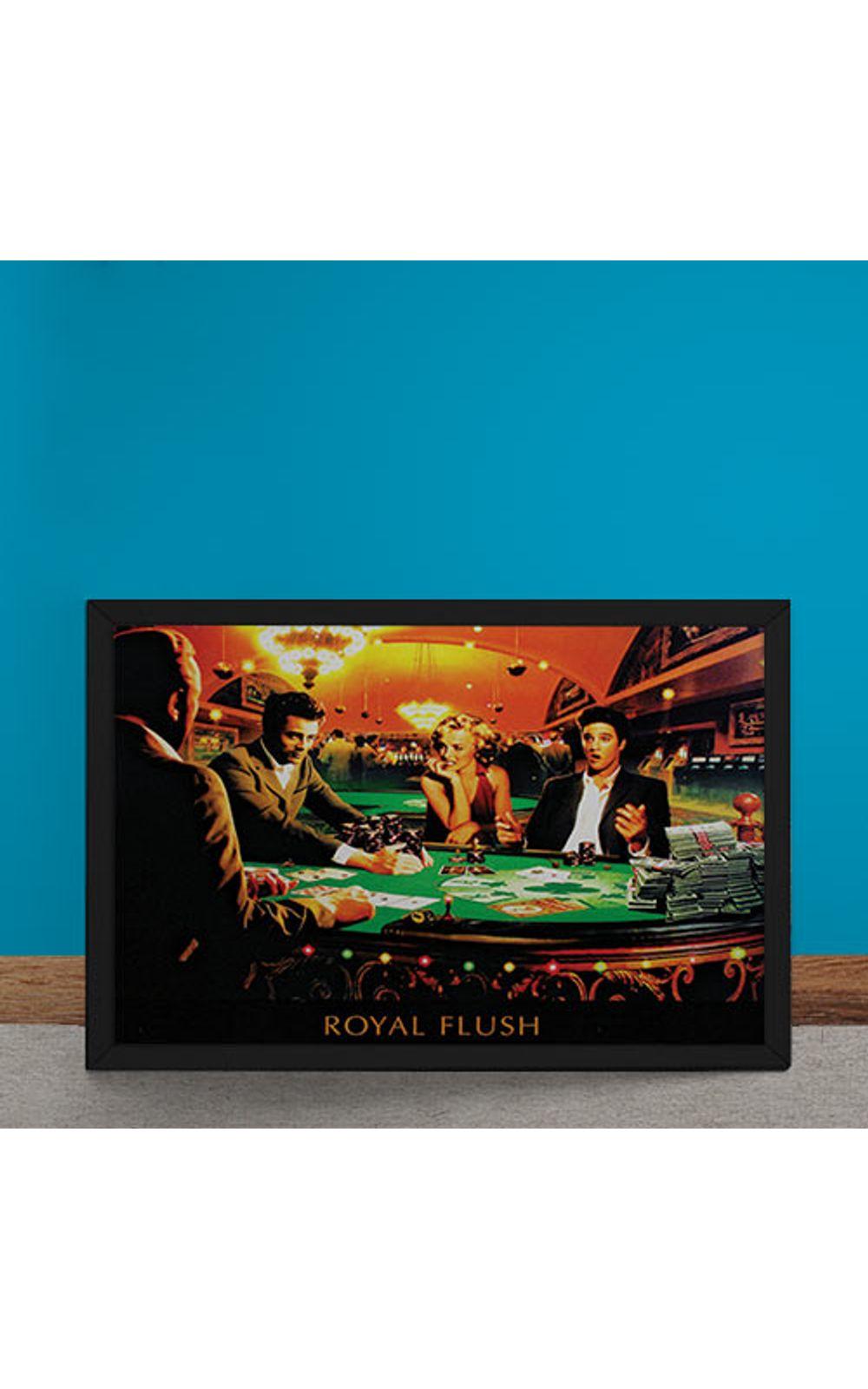 Foto 6 - Quadro Decorativo Poker Royal Flush Marylin Monroe Elvis Presley James Dean Humphrey Bogart