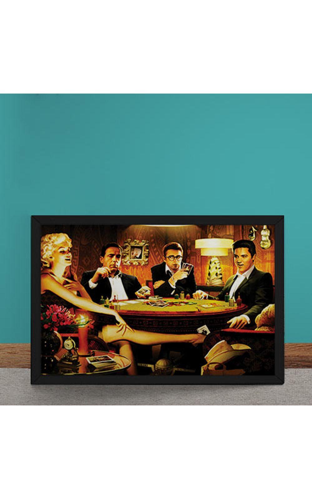 Foto 1 - Quadro Decorativo Baralho Marilyn Monroes Elvis Presley James Dean Humphrey Bogart