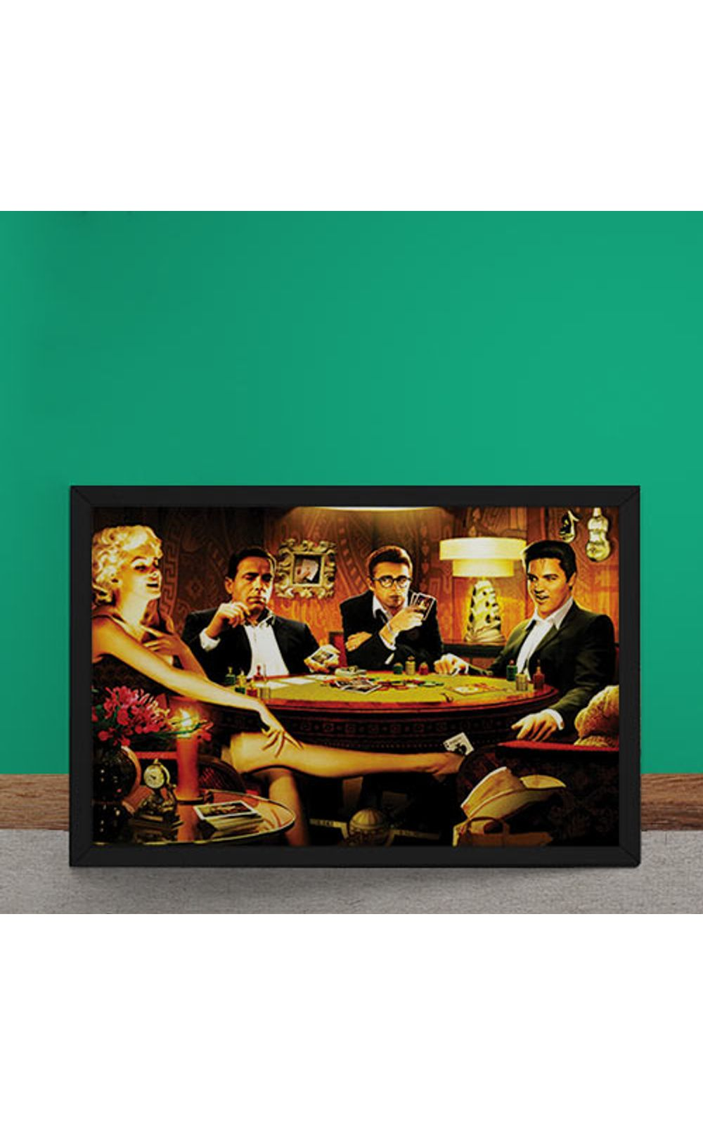 Foto 2 - Quadro Decorativo Baralho Marilyn Monroes Elvis Presley James Dean Humphrey Bogart