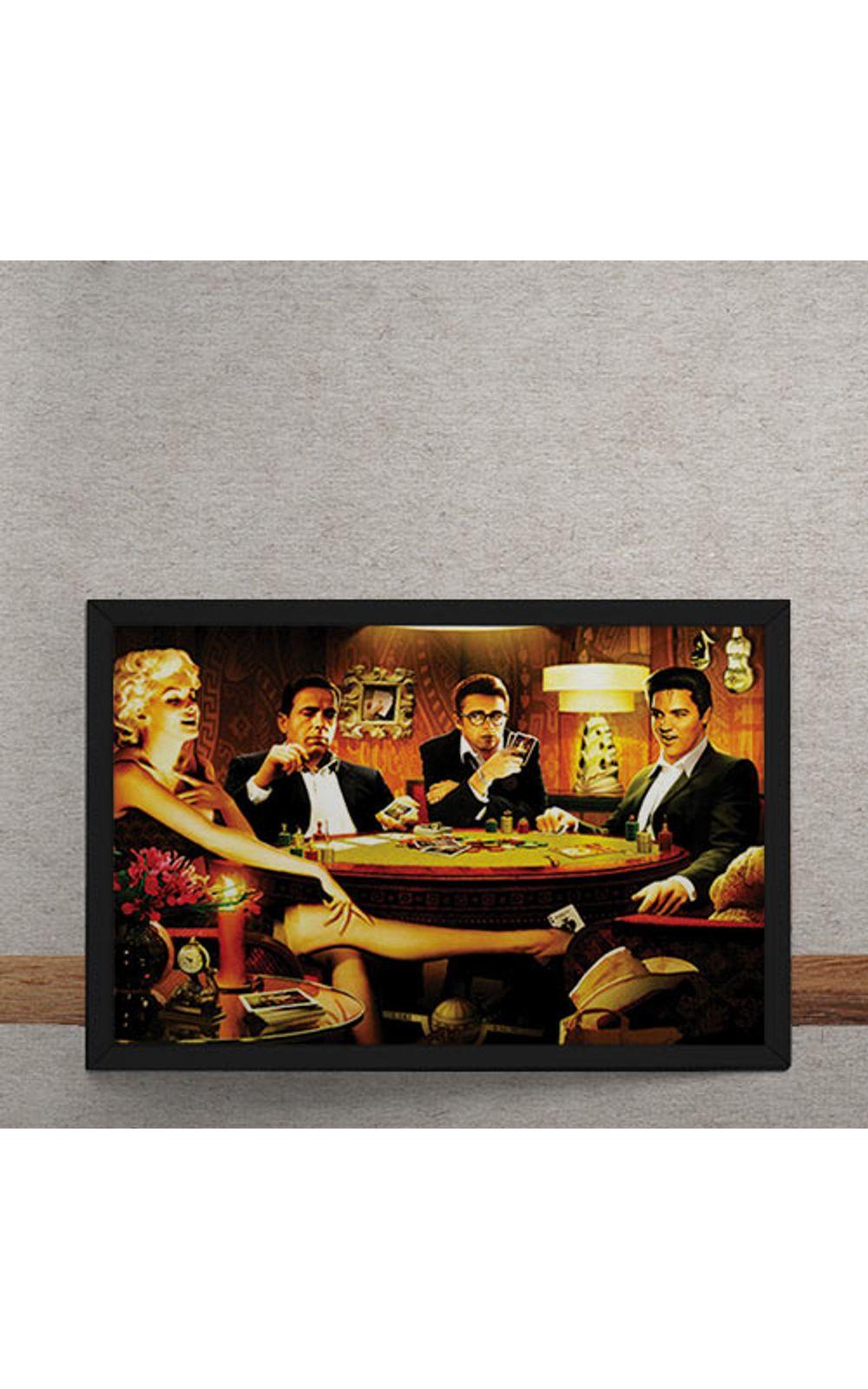 Foto 3 - Quadro Decorativo Baralho Marilyn Monroes Elvis Presley James Dean Humphrey Bogart