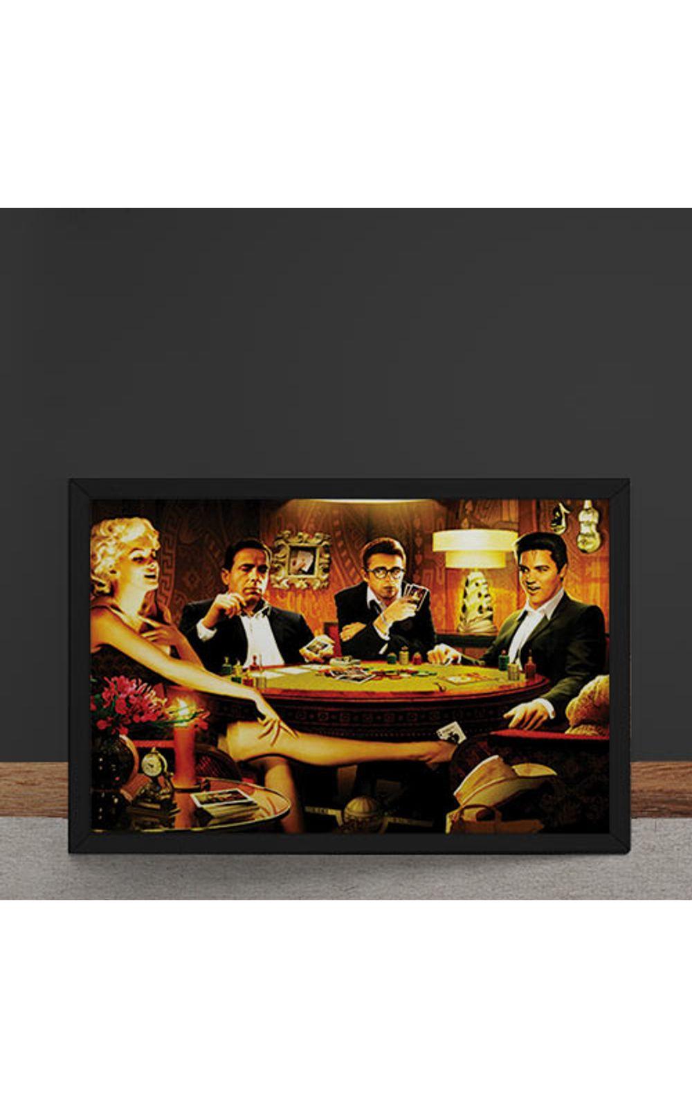 Foto 4 - Quadro Decorativo Baralho Marilyn Monroes Elvis Presley James Dean Humphrey Bogart