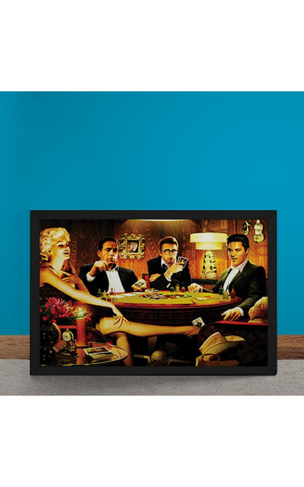 Foto 6 - Quadro Decorativo Baralho Marilyn Monroes Elvis Presley James Dean Humphrey Bogart