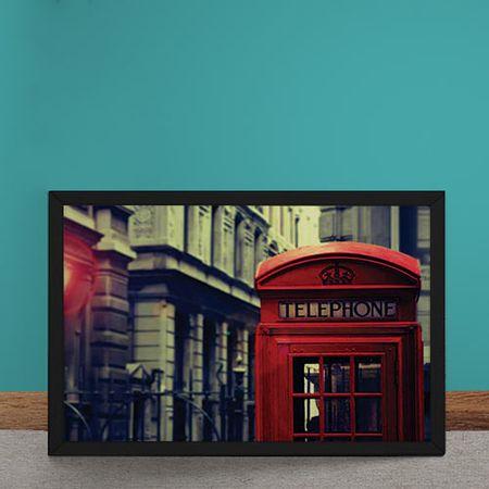 Quadro Decorativo Foco Cabine Telefonica Londres