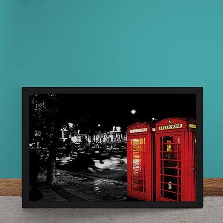 Quadro Decorativo Cabines Telefones Vermelhas Londres