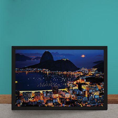 Quadro Decorativo Vista Rio de Janeiro Praia Pao de Acucar
