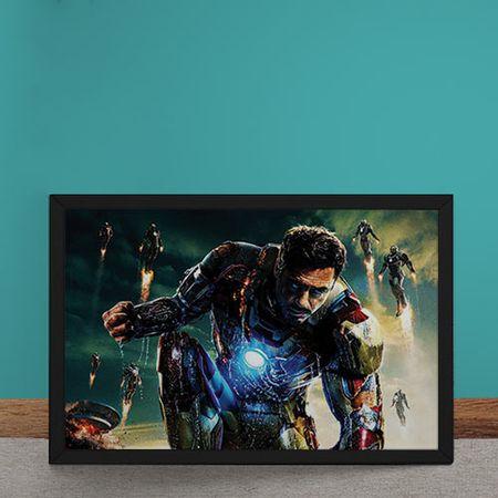 Quadro Decorativo Homem de Ferro Tony Stark Vingadores Marvel