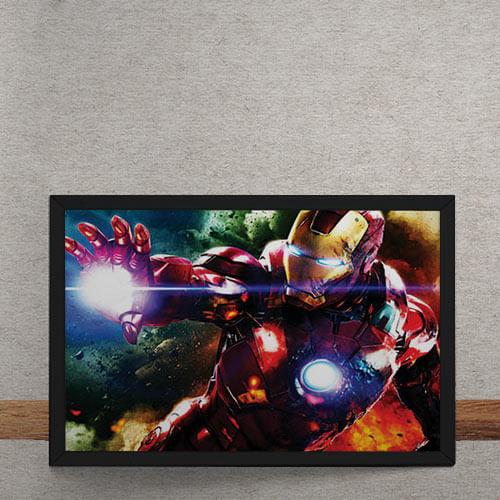 37f5e2f01d Quadro Decorativo Homem de Ferro Vingadores Marvel - Gorila Clube