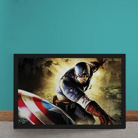 Quadro Decorativo Capitao America Marvel