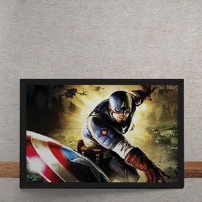 Quadro Decorativo Capitao America Marvel