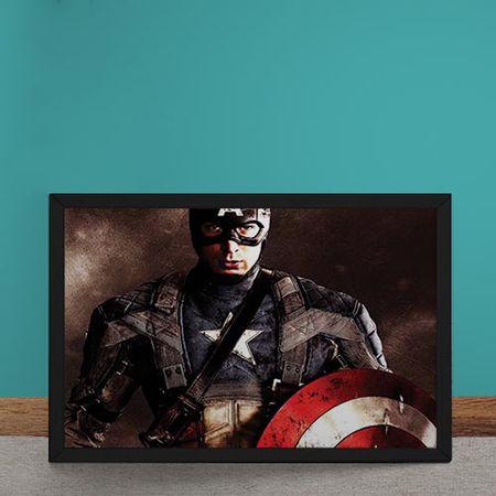 Quadro Decorativo Capitao America O Primeiro Vingador Marvel