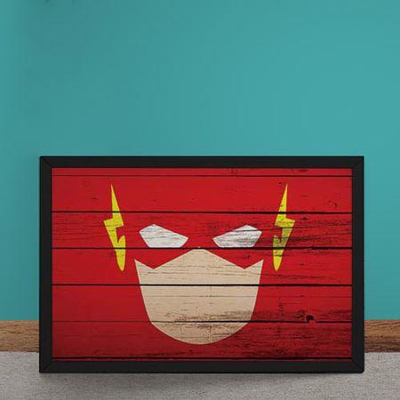Quadro Decorativo The Flash Mural Minimalista DC Comics