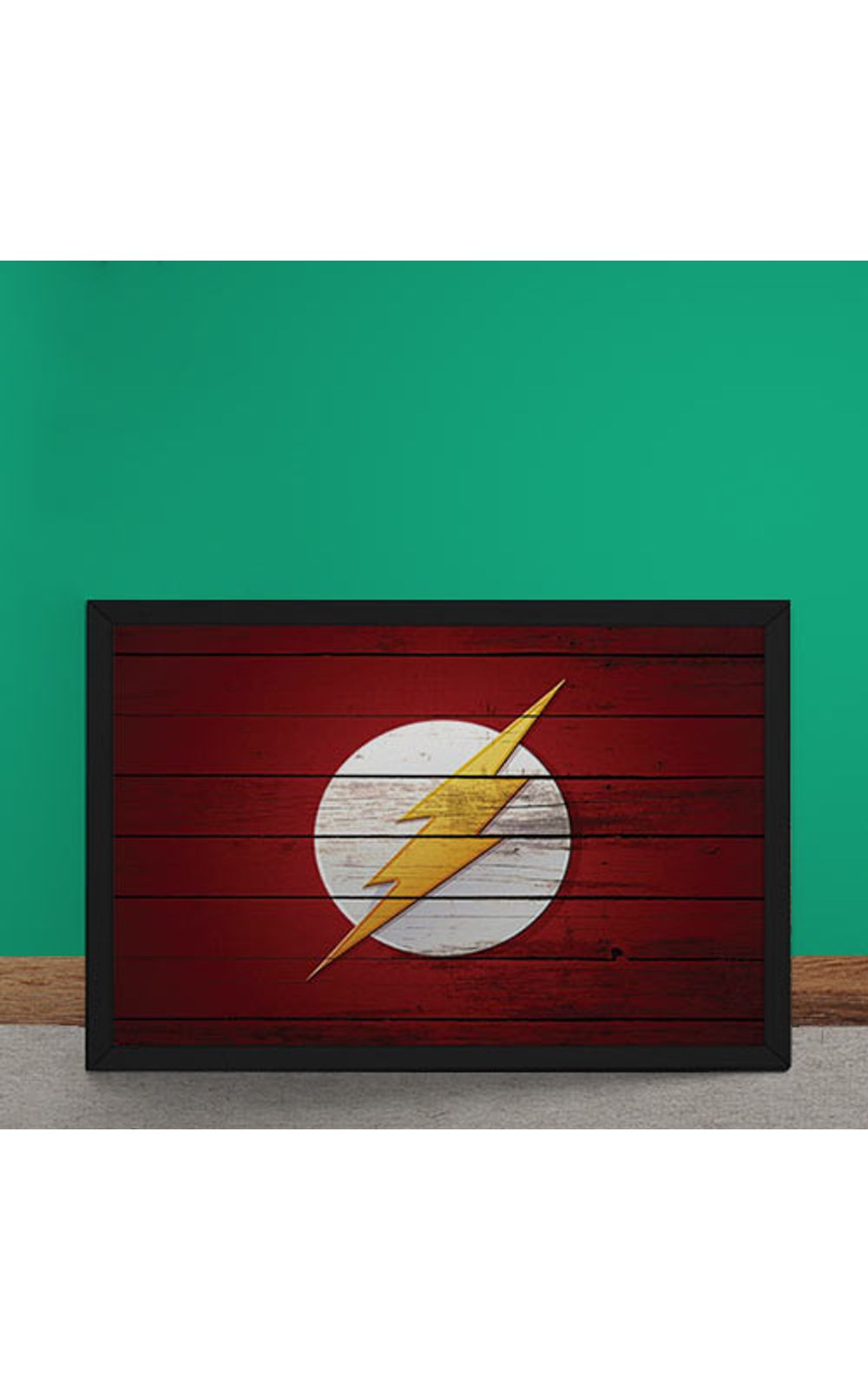 Foto 2 - Quadro Decorativo The Flash Logo Mural Minimalista DC Comics