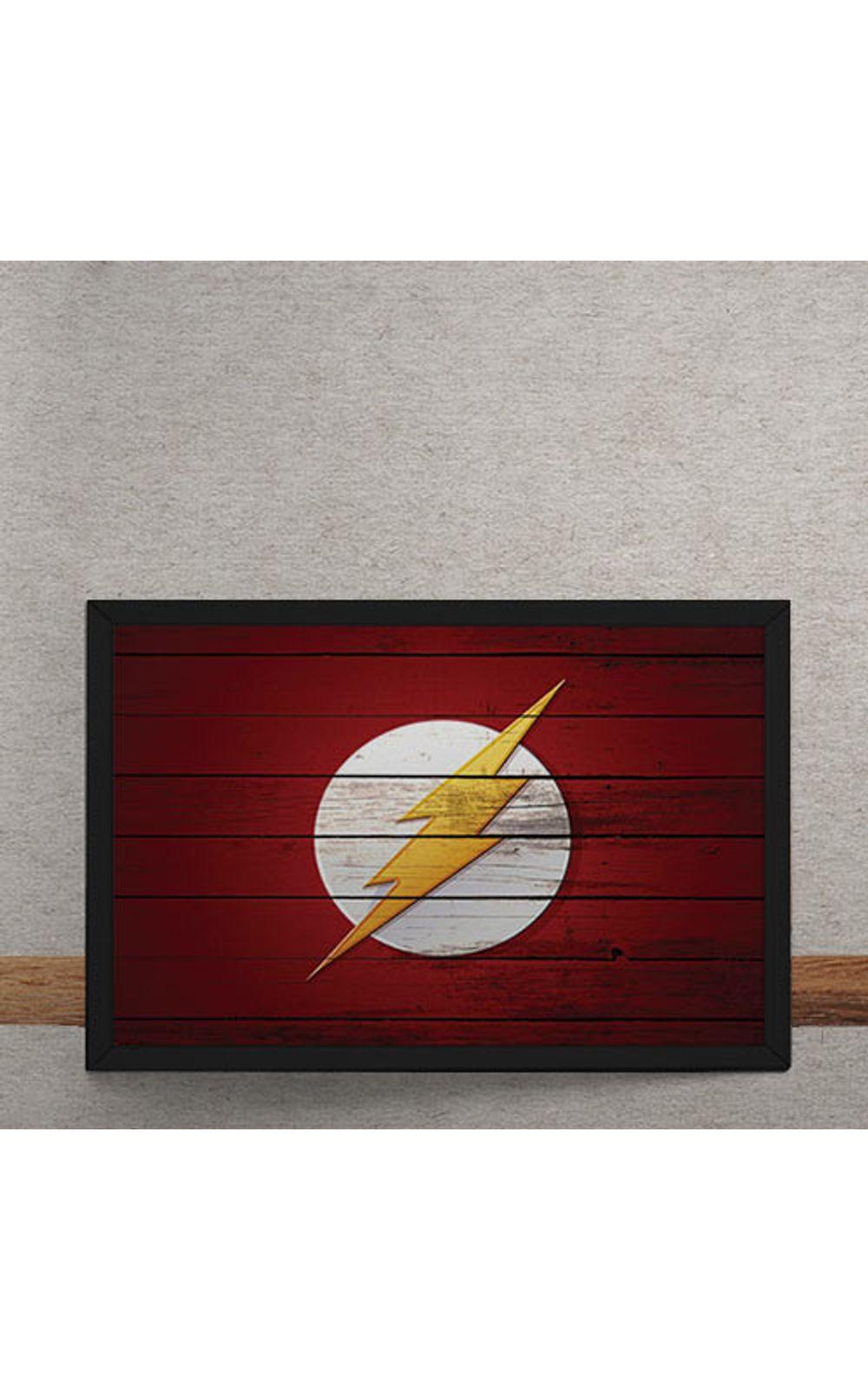 Foto 3 - Quadro Decorativo The Flash Logo Mural Minimalista DC Comics