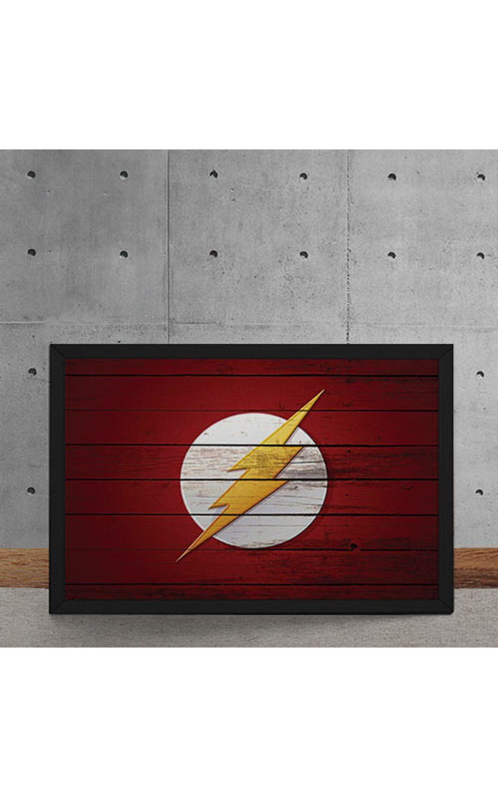 Foto 5 - Quadro Decorativo The Flash Logo Mural Minimalista DC Comics