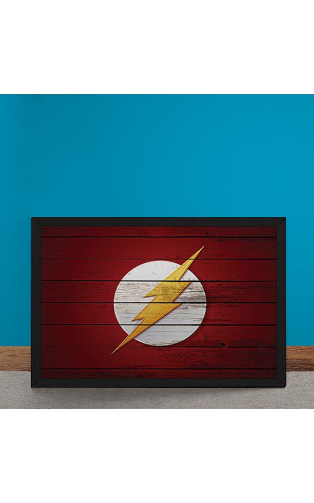 Foto 6 - Quadro Decorativo The Flash Logo Mural Minimalista DC Comics