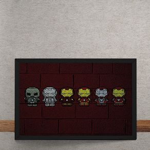 Homem-de-Ferro-Armaduras-Mural-Minimalista-Chapiscado-tecido