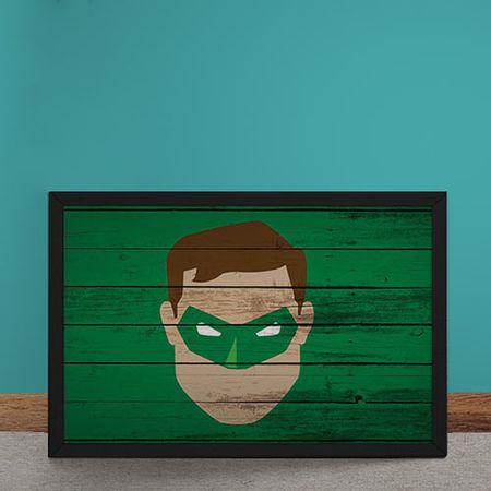 Quadro Decorativo Lanterna Verde Mural Minimalista DC Comics