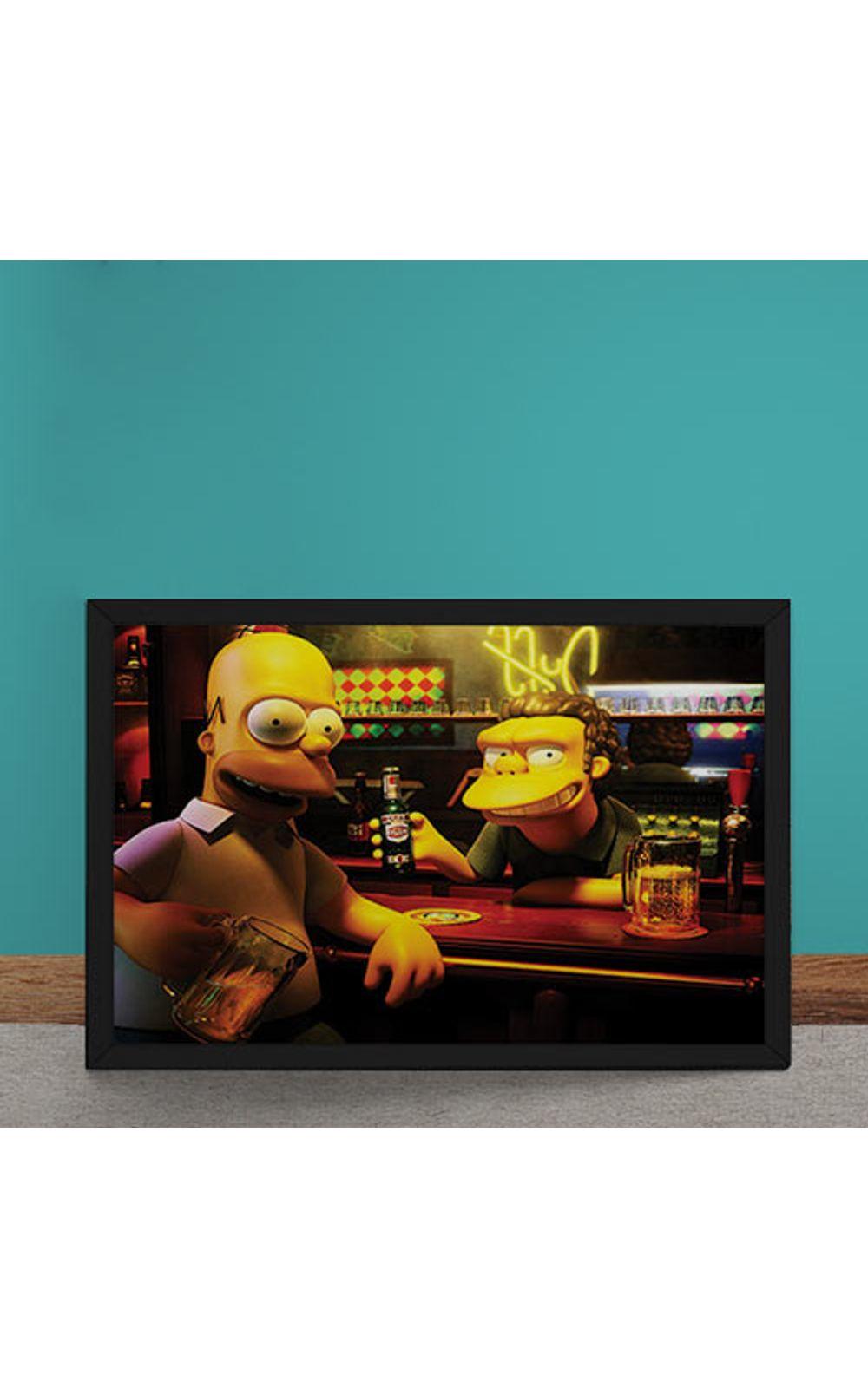 Foto 1 - Quadro Decorativo Homer Moe Simpsons 3D