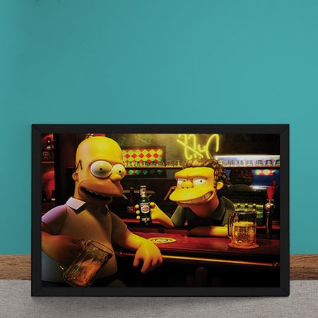 Quadro Decorativo Homer Moe Simpsons 3D