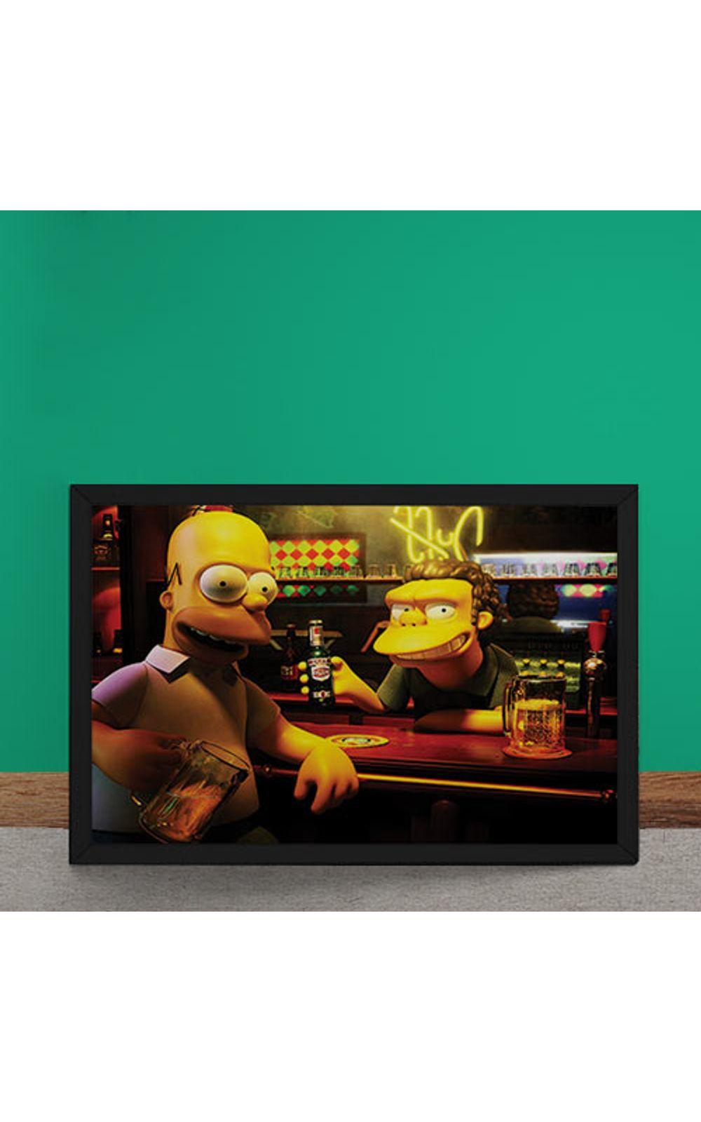 Foto 2 - Quadro Decorativo Homer Moe Simpsons 3D
