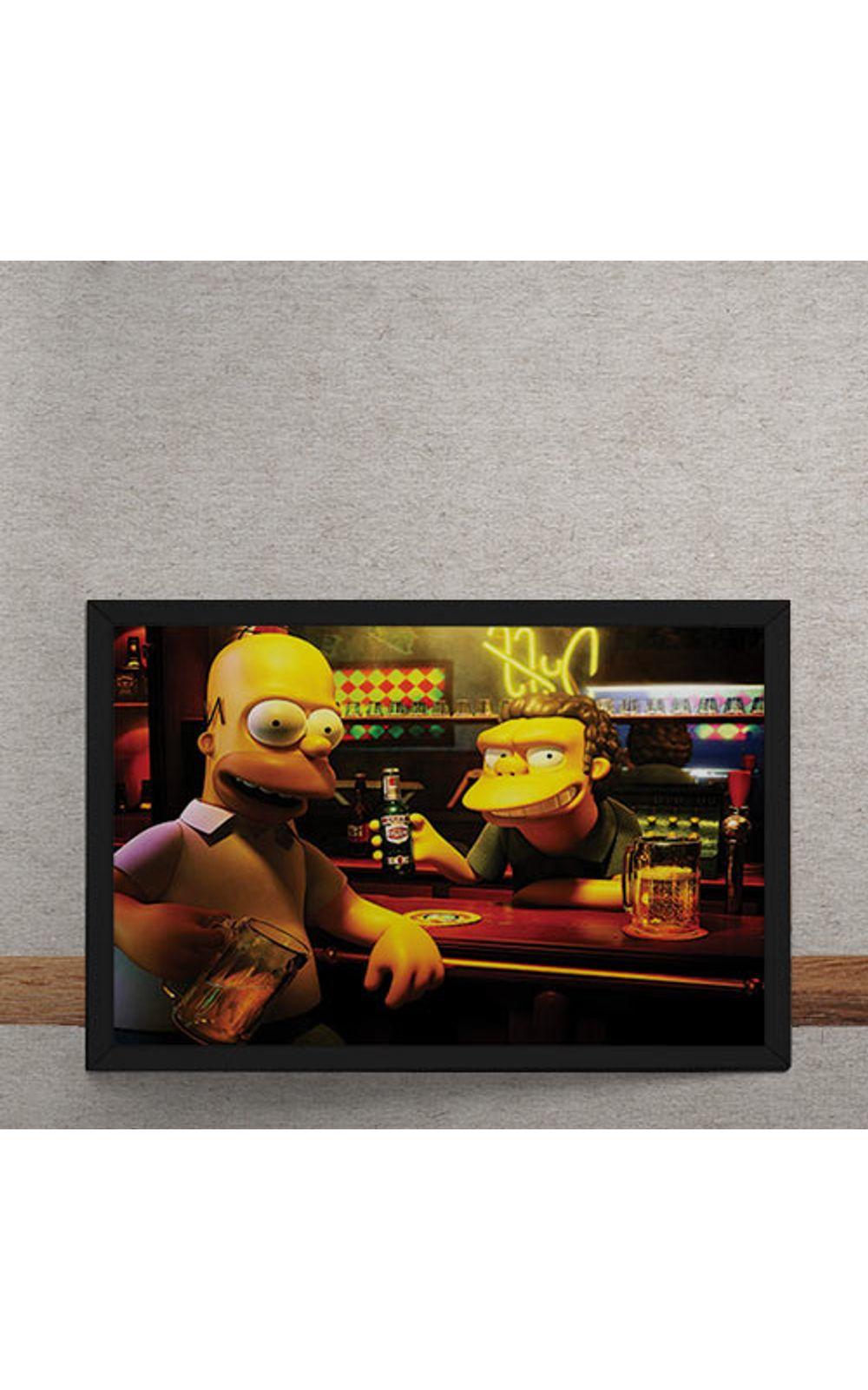 Foto 3 - Quadro Decorativo Homer Moe Simpsons 3D