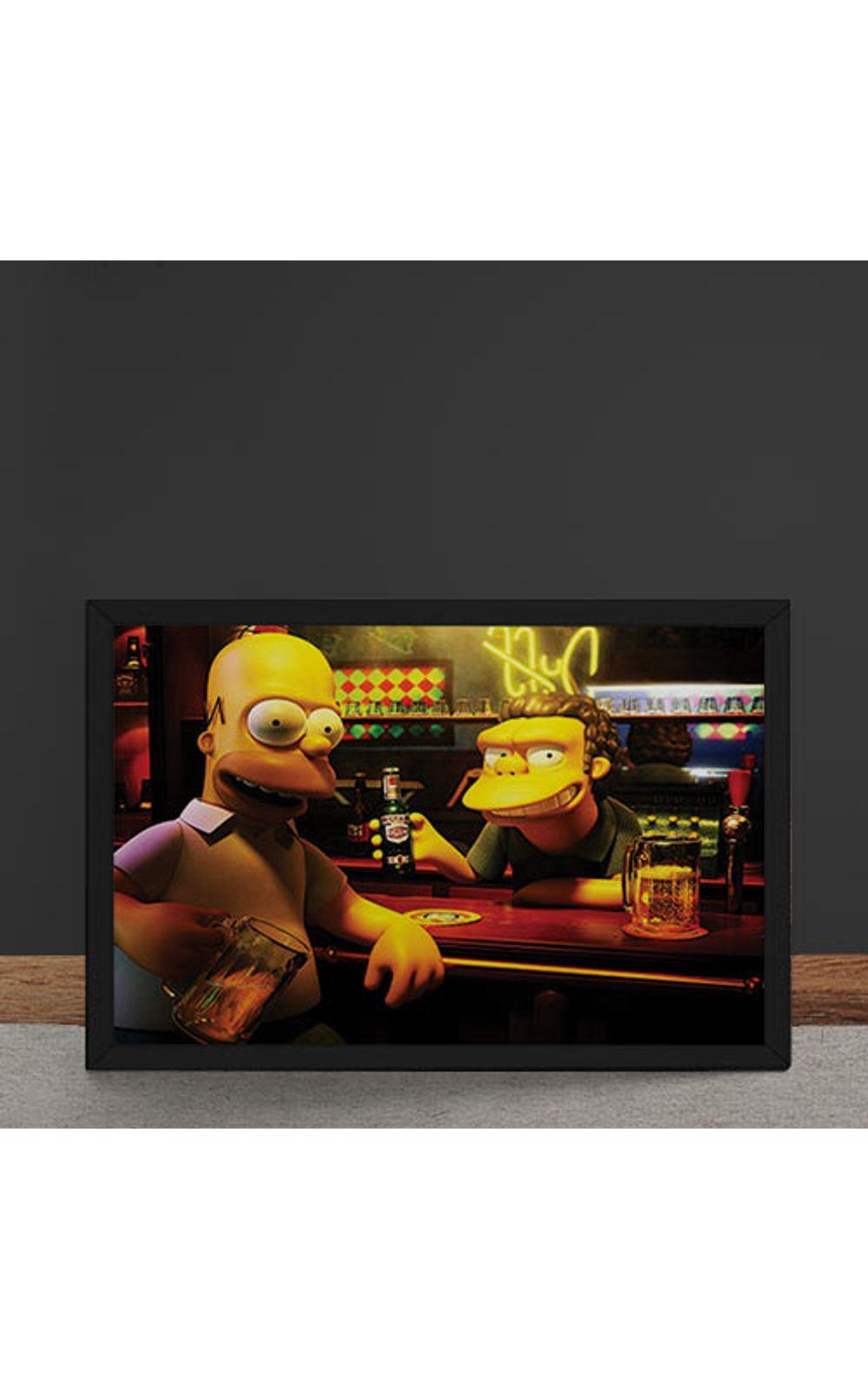 Foto 4 - Quadro Decorativo Homer Moe Simpsons 3D