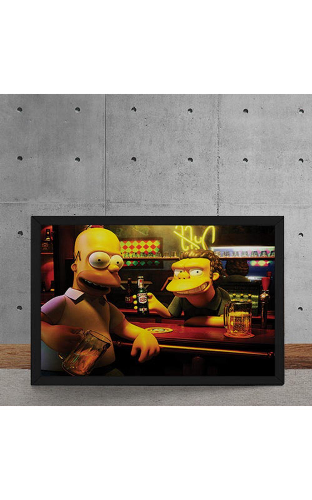 Foto 5 - Quadro Decorativo Homer Moe Simpsons 3D