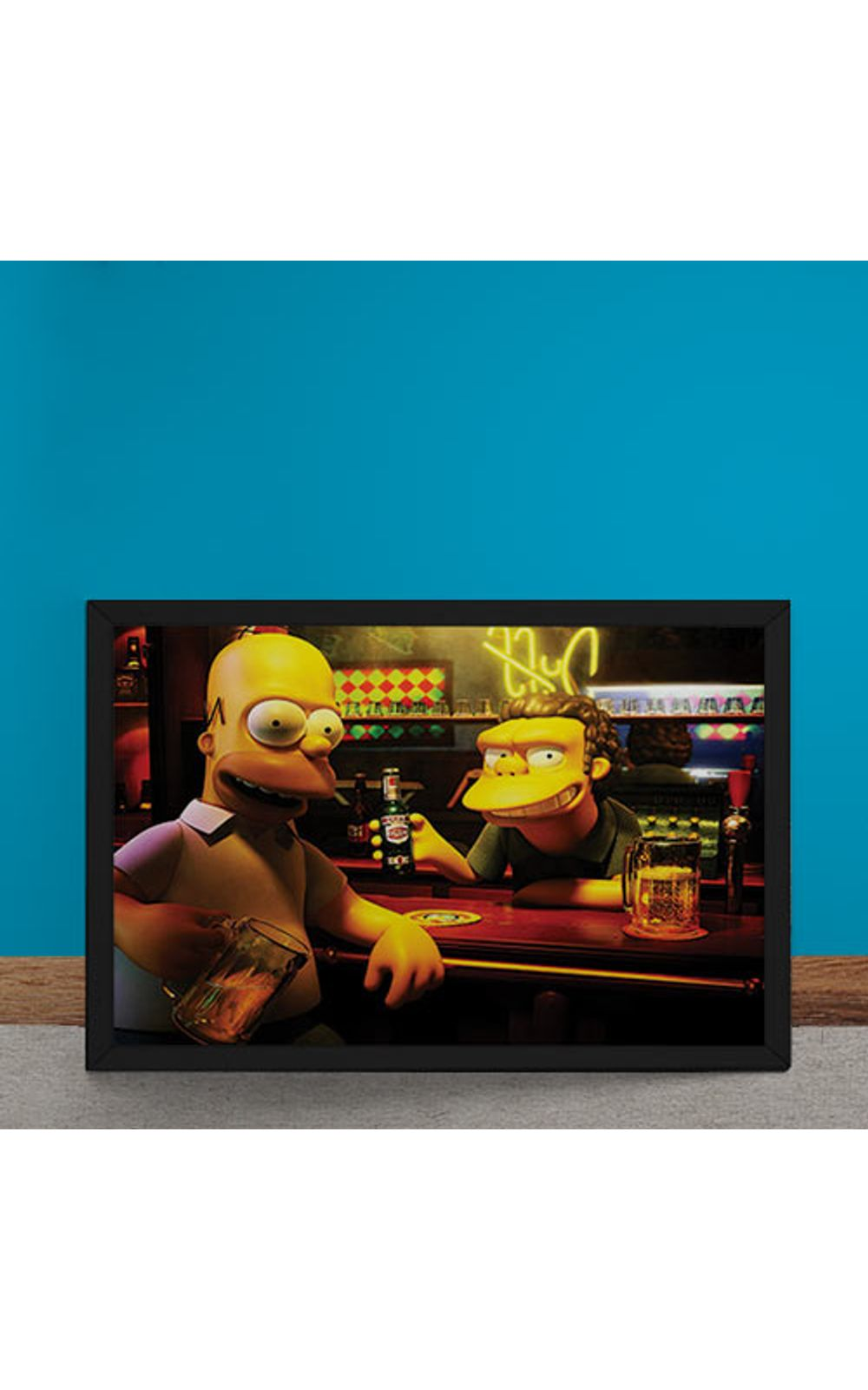 Foto 6 - Quadro Decorativo Homer Moe Simpsons 3D