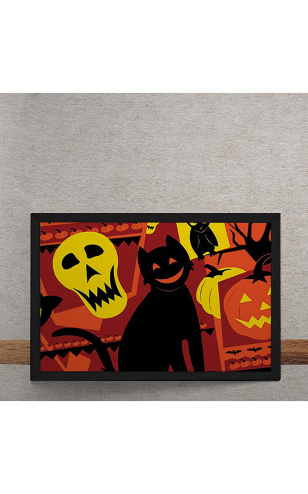 Foto 3 - Quadro Decorativo Gato Halloween