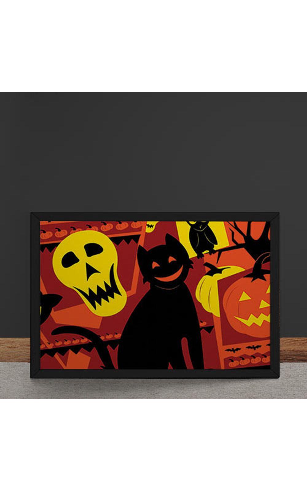 Foto 4 - Quadro Decorativo Gato Halloween