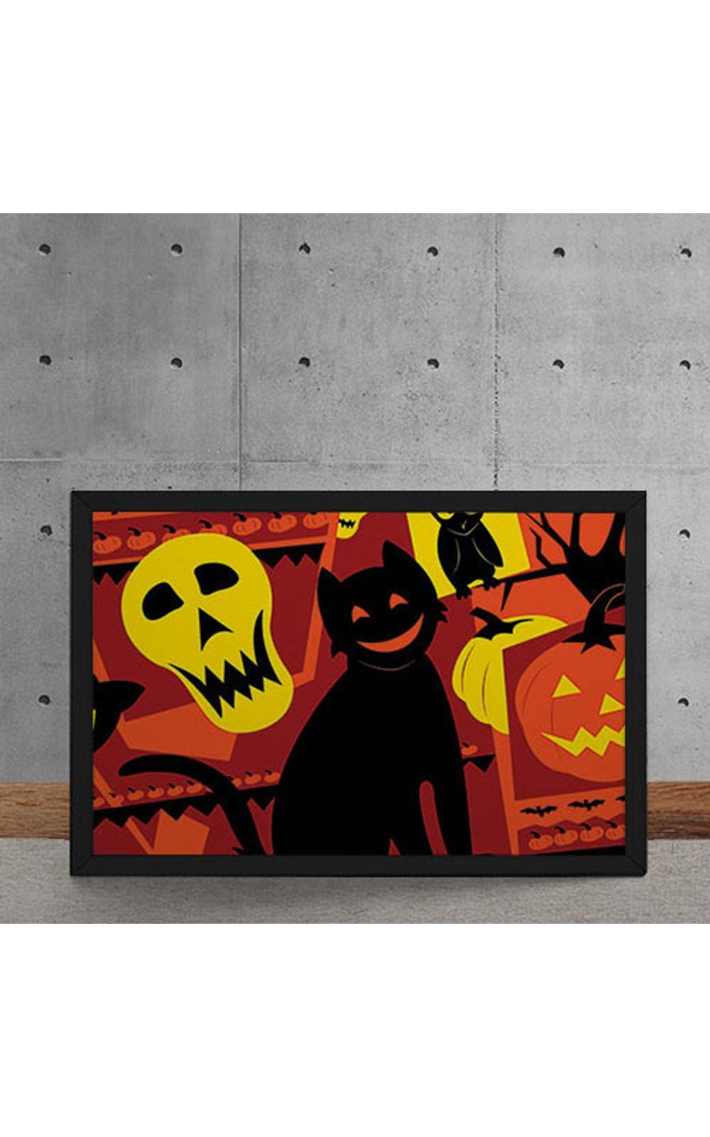 Foto 5 - Quadro Decorativo Gato Halloween