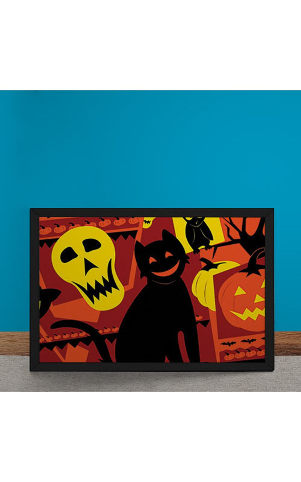 Foto 6 - Quadro Decorativo Gato Halloween