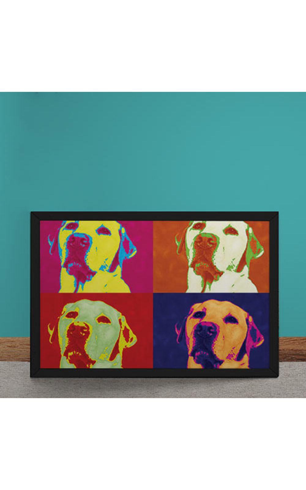 Foto 1 - Quadro Decorativo Andy Warhol Pop Art Cachorro Labrador