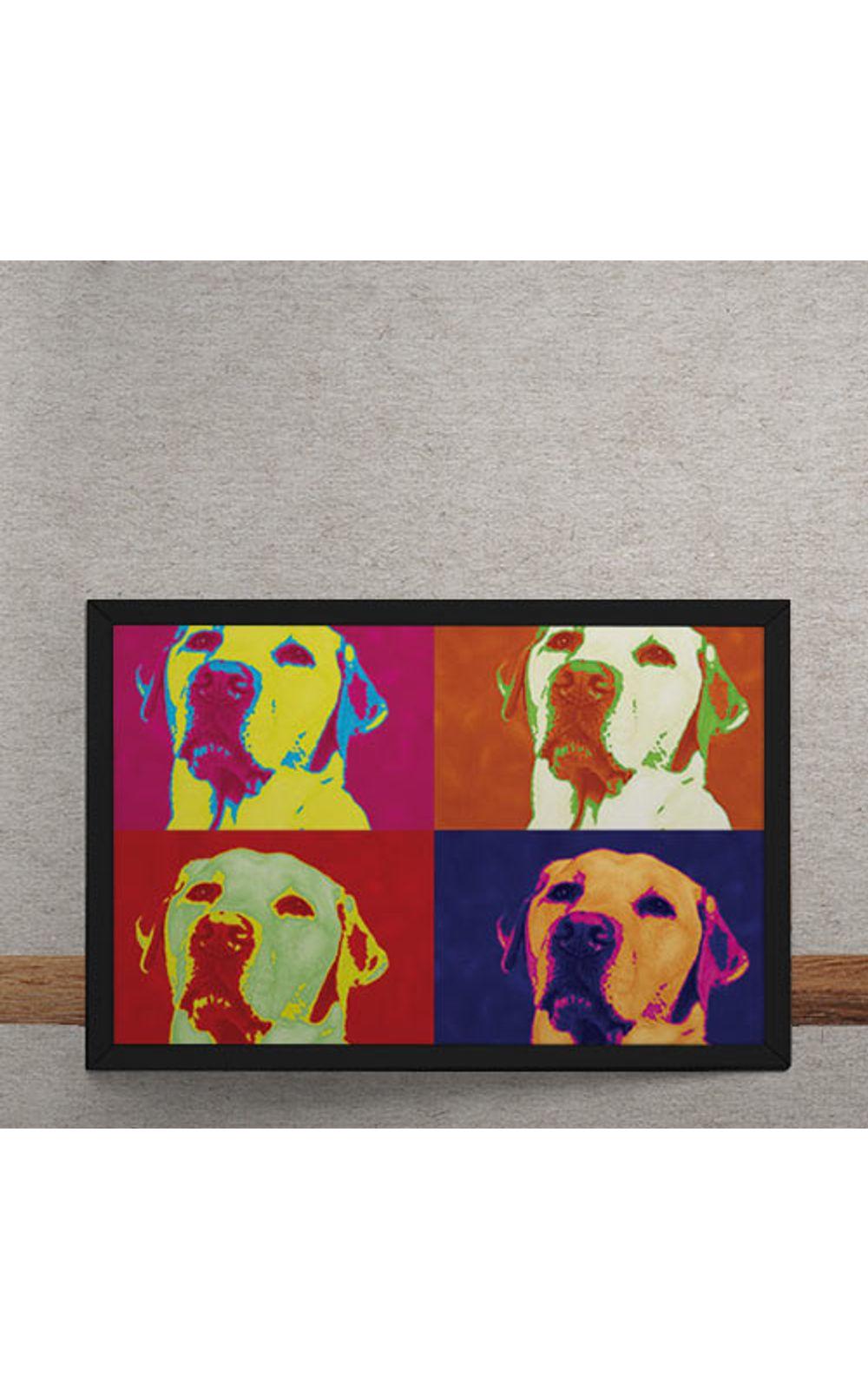 Foto 3 - Quadro Decorativo Andy Warhol Pop Art Cachorro Labrador