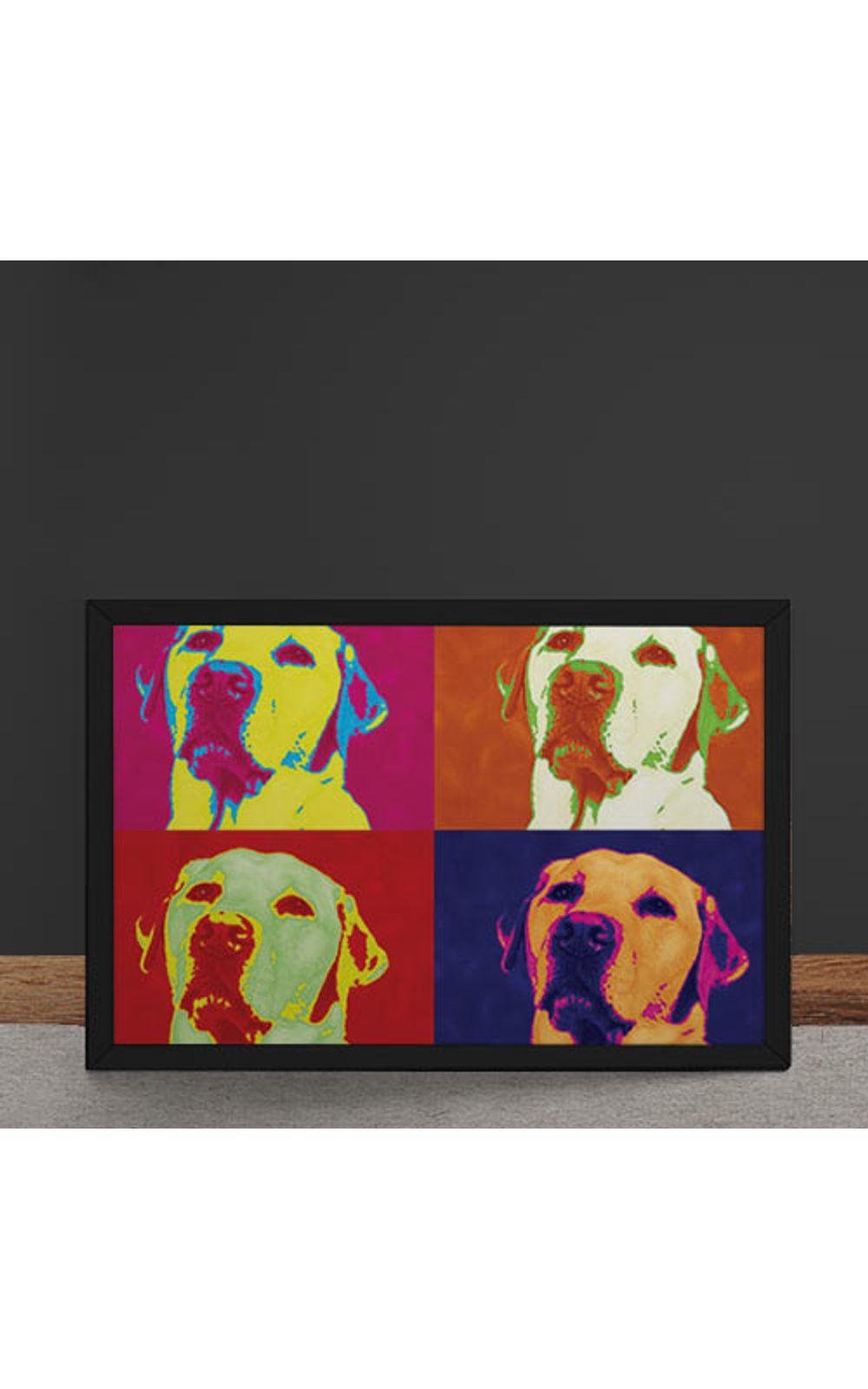 Foto 4 - Quadro Decorativo Andy Warhol Pop Art Cachorro Labrador