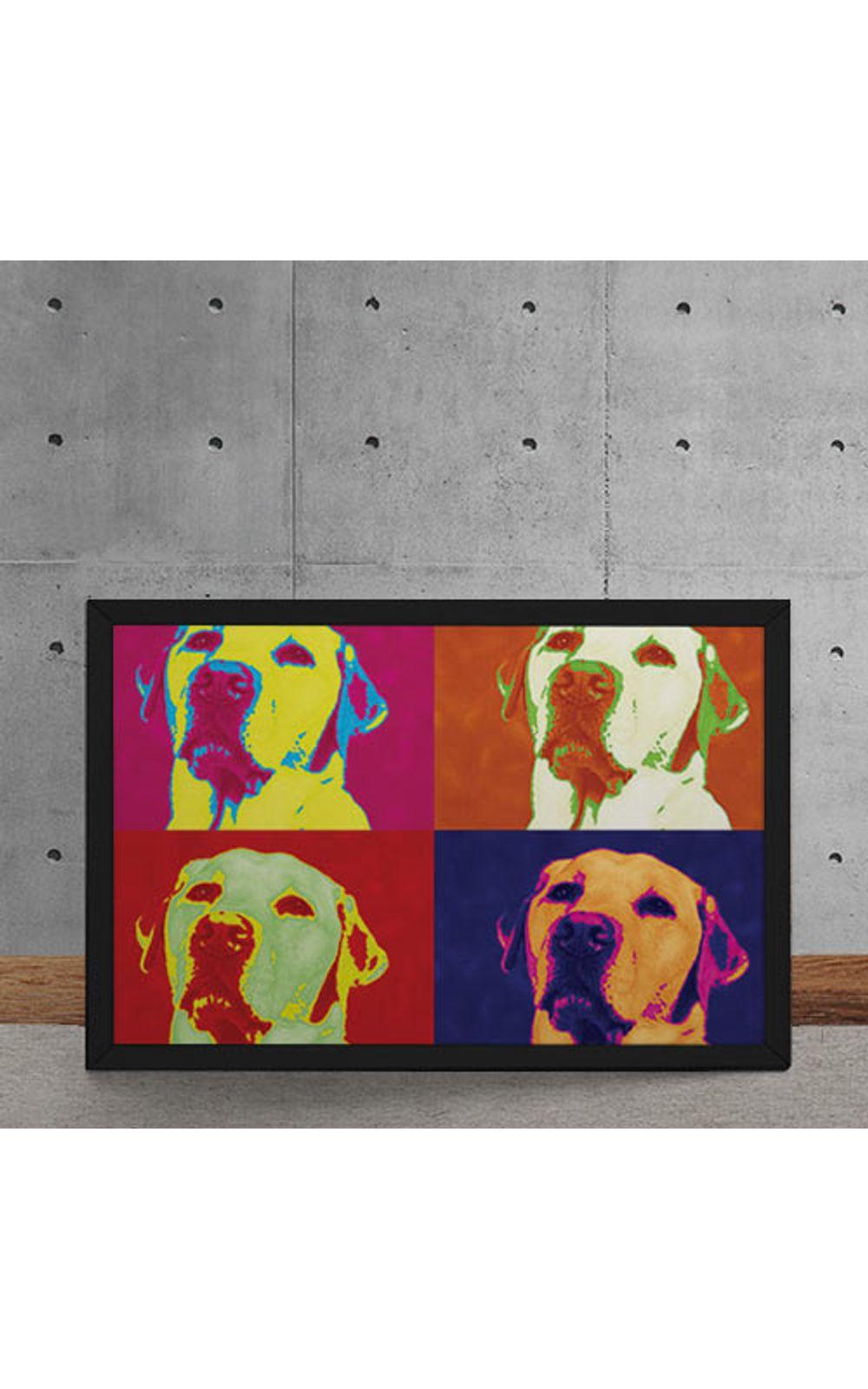 Foto 5 - Quadro Decorativo Andy Warhol Pop Art Cachorro Labrador