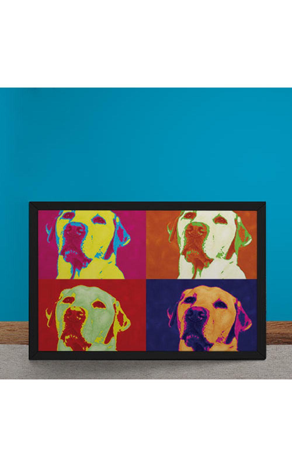 Foto 6 - Quadro Decorativo Andy Warhol Pop Art Cachorro Labrador