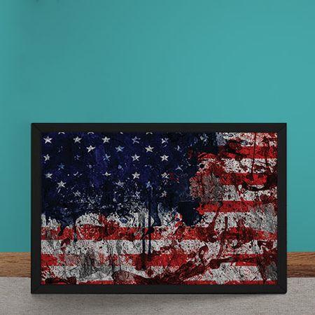 Quadro Decorativo Bandeira dos Estados Unidos Desconstruida