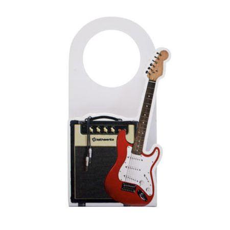 Suporte para Celular de Tomada Guitarra Stratocaster Vermelha