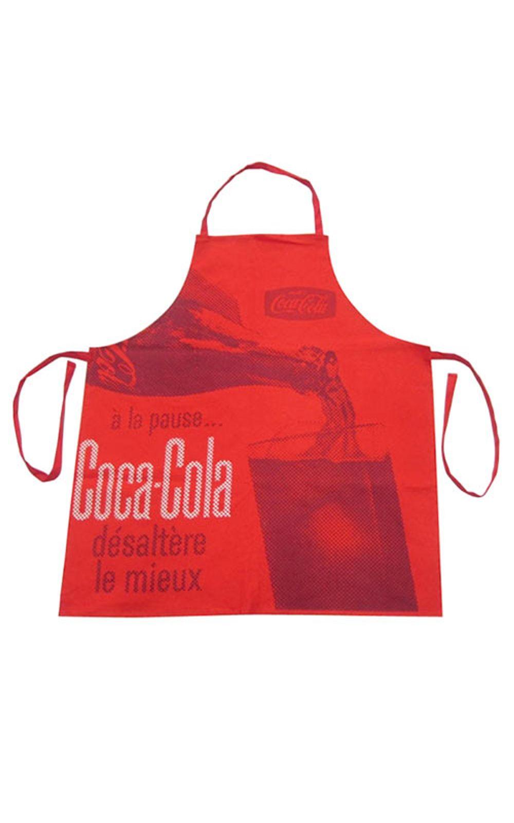 Foto 1 - Avental de Cozinha Coca Cola Servindo Vermelho Vintage