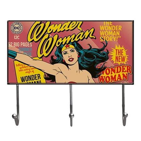 Cabideiro Mulher Maravilha Quadrinhos HQ DC Comics Vintage